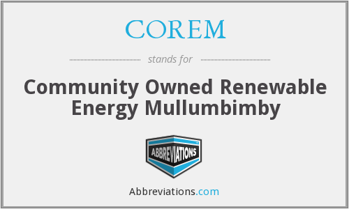 What does COREM stand for?