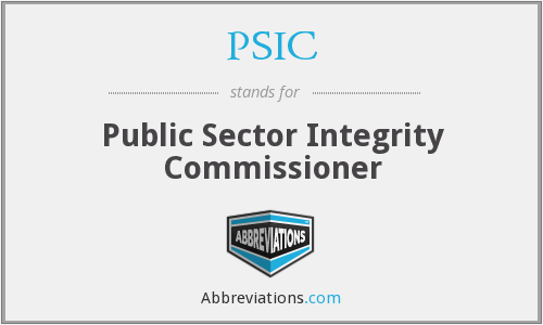 PSIC - Public Sector Integrity Commissioner