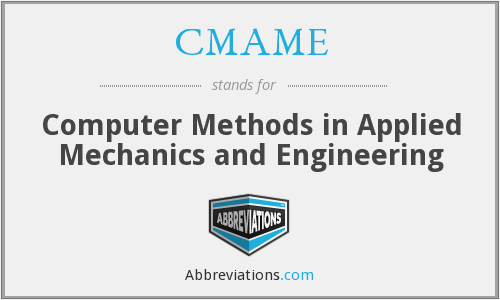 CMAME - Computer Methods in Applied Mechanics and Engineering