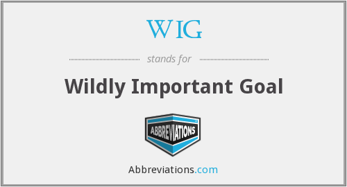 WIG - Wildly Important Goal