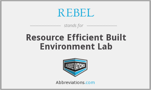 REBEL - Resource Efficient Built Environment Lab