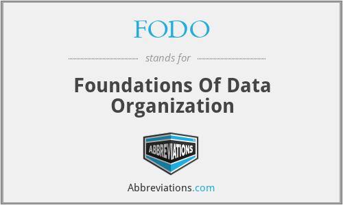 FODO - Foundations Of Data Organization