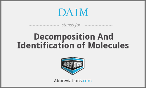 DAIM - Decomposition And Identification of Molecules