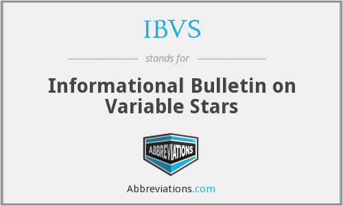 IBVS - Informational Bulletin on Variable Stars