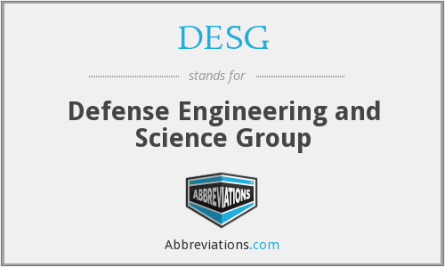 DESG - Defense Engineering and Science Group