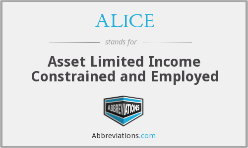 ALICE - Asset Limited Income Constrained and Employed