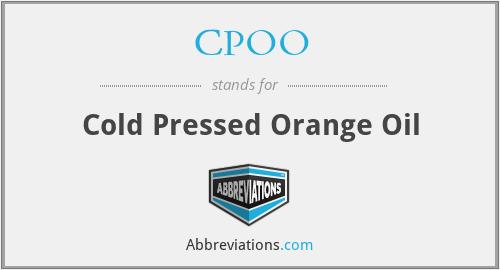 CPOO - Cold Pressed Orange Oil