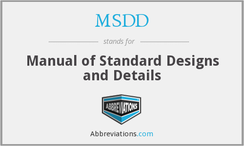 What does MSDD stand for?