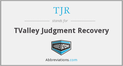 TJR - TValley Judgment Recovery