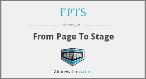 FPTS - From Page To Stage