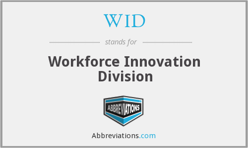 WID - Workforce Innovation Division