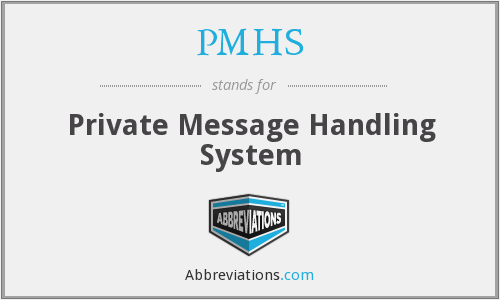 PMHS - Private Message Handling System