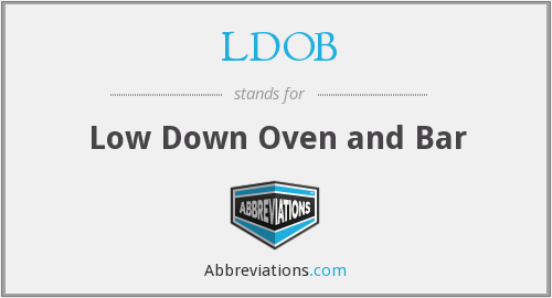 LDOB - Low Down Oven and Bar