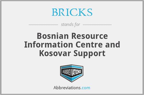 BRICKS - Bosnian Resource Information Centre and Kosovar Support