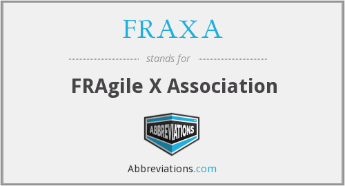 What does FRAXA stand for?