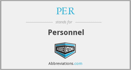 What does personnel stand for?