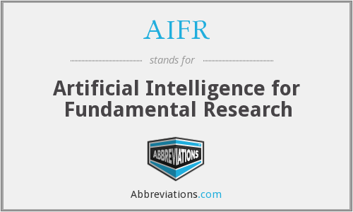 AIFR - Artificial Intelligence for Fundamental Research