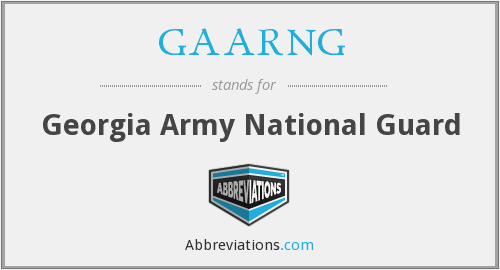What does GAARNG stand for?