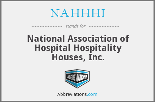 NAHHHI - National Association of Hospital Hospitality Houses, Inc.