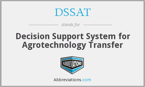 What does DSSAT stand for?