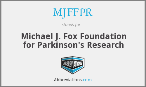 What does MJFFPR stand for?
