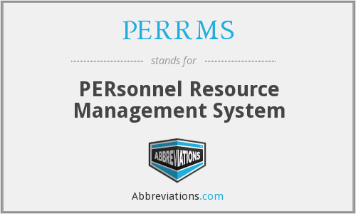 PERRMS - PERsonnel Resource Management System