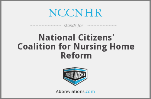 What does NCCNHR stand for?