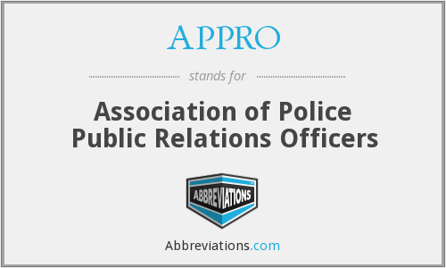 APPRO - Association of Police Public Relations Officers