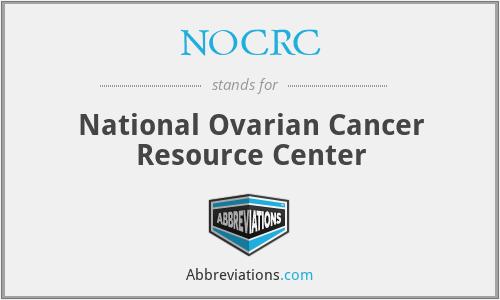 NOCRC - National Ovarian Cancer Resource Center