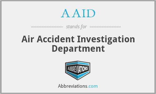 AAID - Air Accident Investigation Department