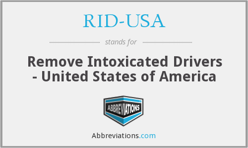 RID-USA - Remove Intoxicated Drivers - United States of America