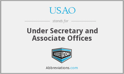 What does USAO stand for?