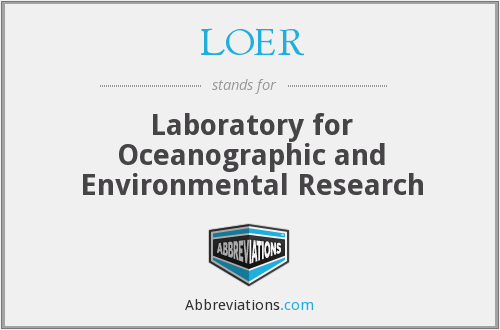 What does LOER stand for?