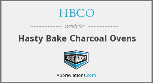 HBCO - Hasty Bake Charcoal Ovens