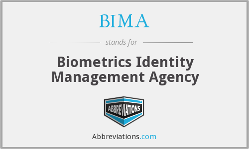 BIMA - Biometrics Identity Management Agency