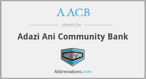 AACB - Adazi Ani Community Bank