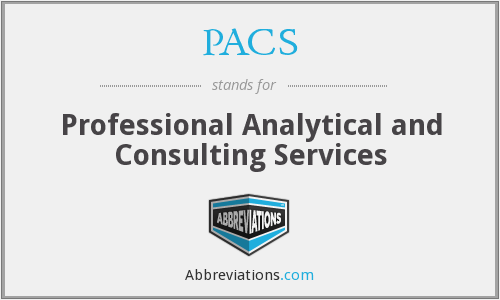PACS - Professional Analytical and Consulting Services