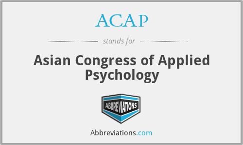ACAP - Asian Congress of Applied Psychology