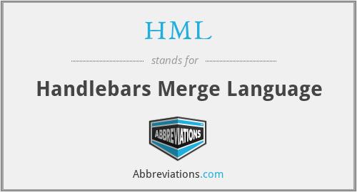 HML - Handlebars Merge Language