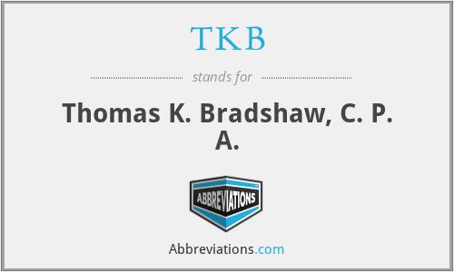 TKB - Thomas K. Bradshaw, C. P. A.