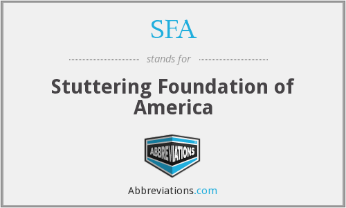 SFA - Stuttering Foundation of America