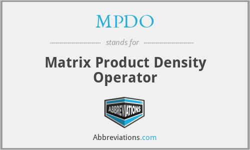 MPDO - Matrix Product Density Operator