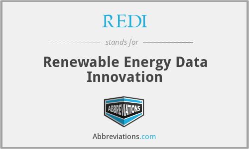 REDI - Renewable Energy Data Innovation