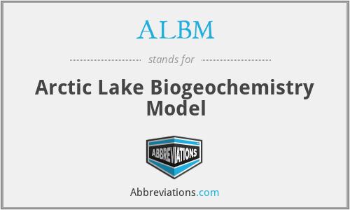 ALBM - Arctic Lake Biogeochemistry Model