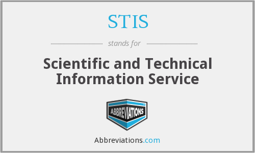 STIS - Scientific and Technical Information Service