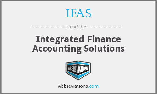 IFAS - Integrated Finance Accounting Solutions