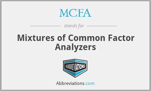 MCFA - Mixtures of Common Factor Analyzers