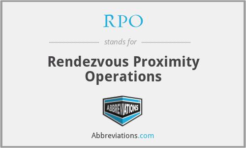 RPO - Rendezvous Proximity Operations
