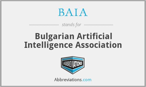 BAIA - Bulgarian Artificial Intelligence Association