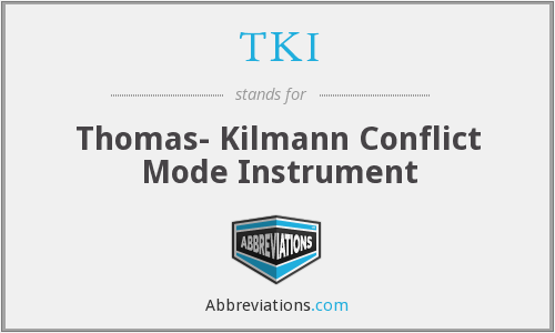 TKI - Thomas- Kilmann Conflict Mode Instrument